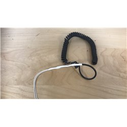 Microphone cord curled thick